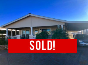 SOLD! – Space #110 – Great Location! Biggest Patio on the Block!