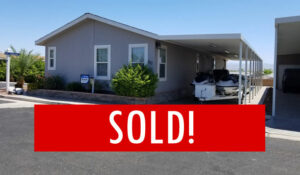 Space #60 – SOLD! – Beautiful 2 bedroom, 2 bath with patio overlooking our pool